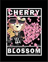 【FOX REPUBLIC】【クマ と 桜】 黒光沢紙(フレーム無し)A3サイズ