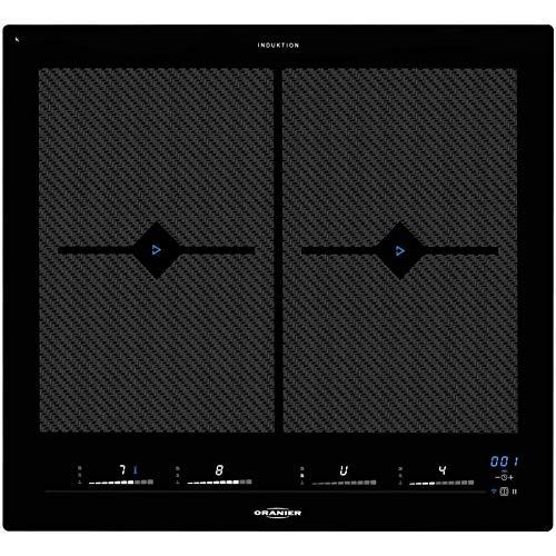 Oranier autarkes Vollflächeninduktionskochfeld 60 cm Kochfeld Set Induktion FLI 2068 bc inkl. Edelstahl-Seitenleisten