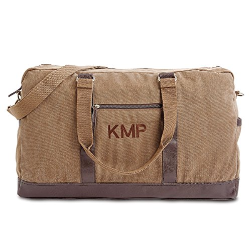 Personalized Monogrammed Large Canvas Durable Duffel Bag