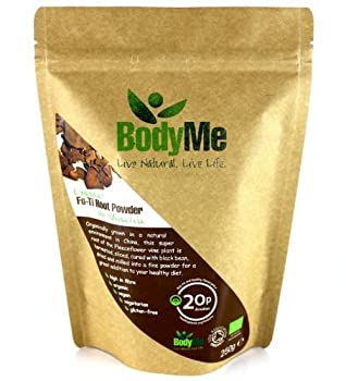 BodyMe Poudre de Fo-Ti Biologique 5:1   250 g (1 x 250 g)   Soil Association Certifie Biologique
