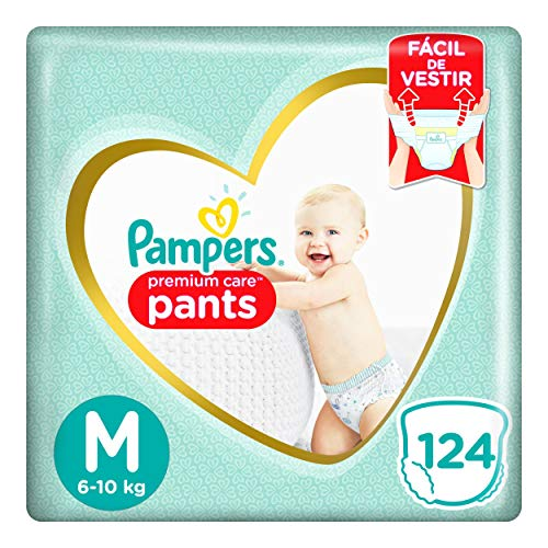 Fralda Pampers Pants Premium Care M 124 unidades, Pampers