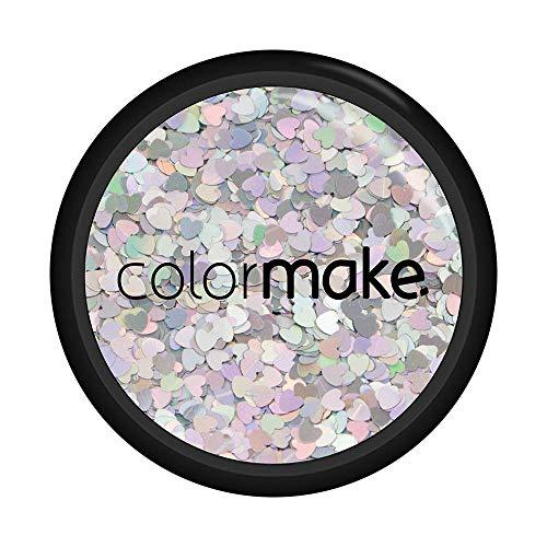 Glitter Shine Coração Prata 2G, Colormake