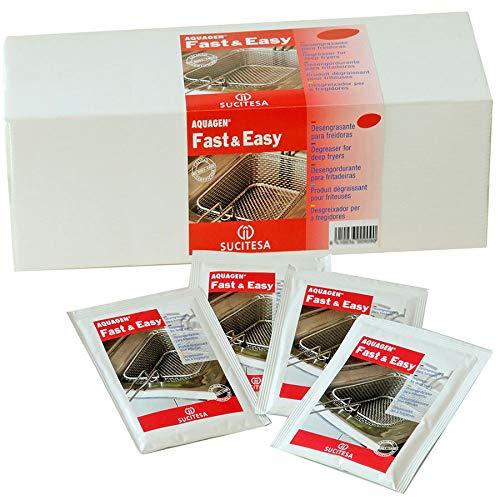 Desengrasante para freidoras industriales en sobres. Pack 24 monodosis