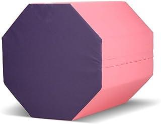 "Matladin 24 ""x26"" ژیمناستیک Octagon مهارت در شکل گیری Tumbling Somersault Backbend تمرین برای مربی بدنسازی کودکان پیش دبستانی (بنفش + صورتی)"
