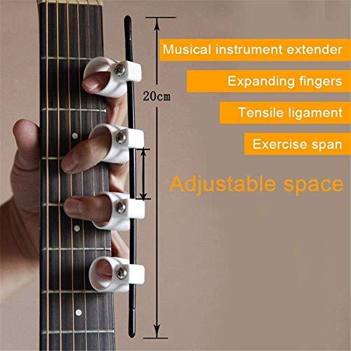 Sdkmah9 Verstellbarer Finger-Expander – Widerstandstrainingsbänder für Gitarre, Bass, Klavier, Fingergeschwindigkeitssystem – Handtrainer Kräfterzubehör, nicht null, Weiße Frauen, Free Size