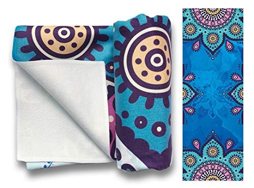 Non-Slip Hot Bikram Yoga Towel Mat Super Absorbent Quick Dry Microfiber Extra Long 63 x...