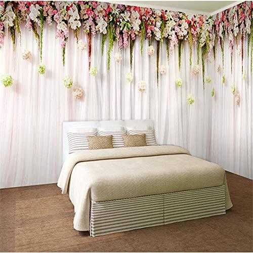 Pbbzl kwaliteit en romantische bloemen, om op te hangen, comfortabel, voor slaapkamer, huwelijk, maaltijd, grote muur, papier, voor woonkamer 200 x 140 cm