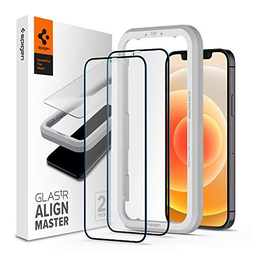 Spigen, 2 Pack, Protector Pantalla iPhone 12 / iPhone 12 Pro (6.1'), Align Master, Cobertura...
