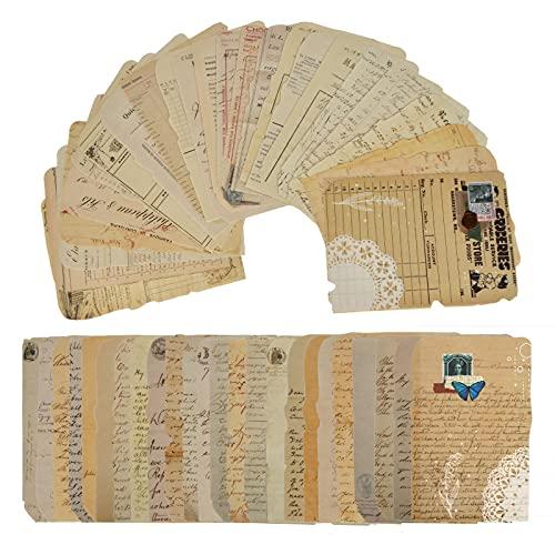 50 hojas Papel Scrapbooking,Pegatinas de scrapbooking vintage, papel decorativo manualidades,Decoración Material Diario...