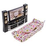 MagiDeal Mobilier de Maison de Poupée Hi-FI TV Cabinet Lecteur Audio Canapé Décoration pour Dolls
