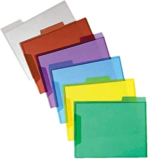 Staples 533539 3-Tab Translucent Poly File Folders Assorted 6/Pack (10847)