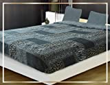 AHF/WPM Leopard Black Red Blanket Thick Sumptuously Soft Plush Warm Faux Fur Borrego/Microfiber Sherpa Reversible Winter Blankets Throw Bedspread Choose from Burgundy
