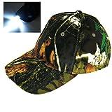 Thkfish Camo Hut, Light 5 LED Camouflage Jagd Dschungel Angeln Hut Cap Vintage Wandern Cap Breath...
