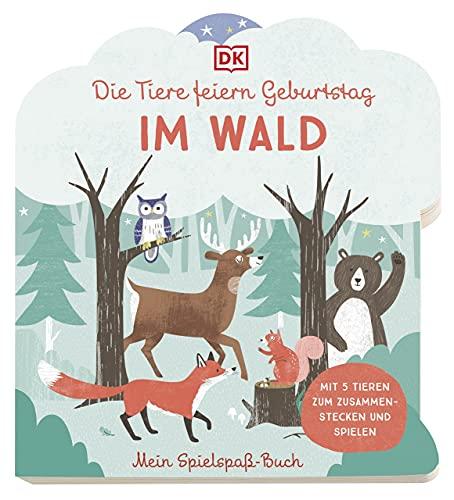 Mein Spielspaß-Buch. Die Tiere feiern Geburtstag im Wald: Pappbilderbuch ab 3 Jahren mit Tierfiguren zum Zusammenstecken