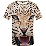 WBYFDC Camiseta Unisex con Estampado De Tigre Animal...