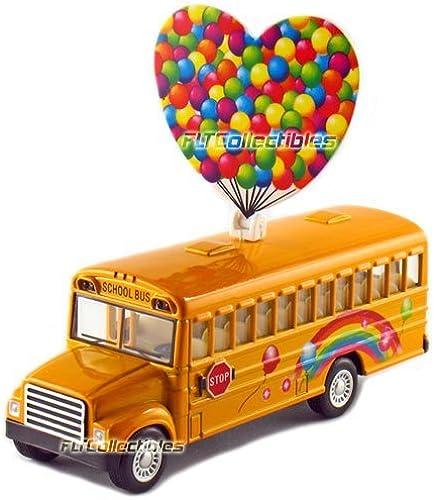 12 pcs in Box  5 Die Cast Rainbow School Bus, Pull Back Action (Gelb) by KinsFun