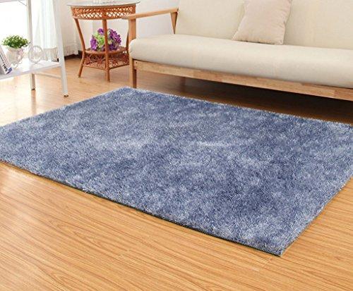 Edge to Teppiche und Decken Raum Couchtisch Wohnzimmer Schlafzimmer Teppichgeschäft für japanische und koreanische Art 120 × 170cm (Farbe : Silber)