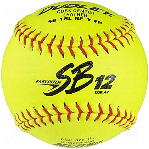 Dudley Sb 12L Nfhs Fastpitch Leather Softballs 12 Ball Pack