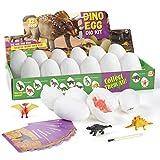 Diealles Shine Huevos de Dinosaurios, Huevos de Dinosaurio Excavacion Paquete de 12, Juguetes Educativos para Niños de 6+ Años Regalo de Niños Niñas
