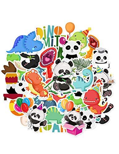 HaokHome S-025 Aufkleber, Dinosaurier-Panda, für Teenager Kinder, Kleinkinder, Autos, Aufkleber für Wasserflaschen, Laptop, Scrapbooking, Hydroflasche, Vsco Aufkleber Wandaufkleber Raumdekoration