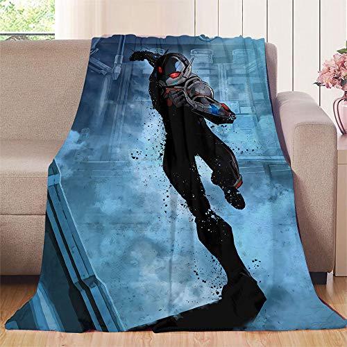 XavieraDoherty The Avengers, Ant Man Flanelldecke, 150 x 160 cm, warm und hypoallergen, waschbar, Mikrofaser