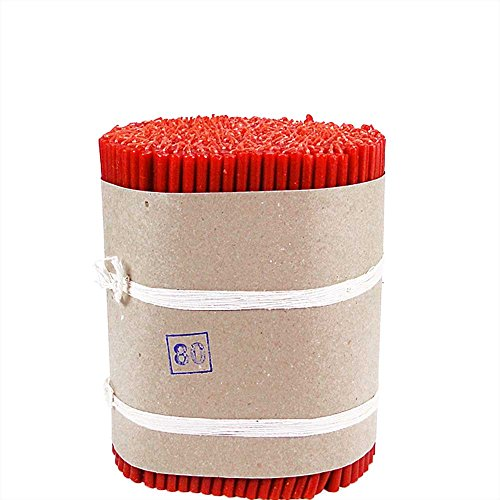 NKlaus 243g (ca. 50 pz.) Candele d'altare Rosso fuliggine Senza gocciolamento di Candele pasquali L: 17,5cm 36255