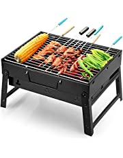 Barbecue, houtskoolbarbecue, kleine grill, mini-grill, opvouwbare grill voor tuin, camping, park, festivals of BBQ