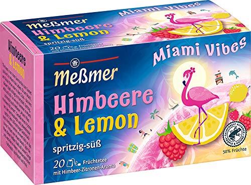 Meßmer Miami Vibes | Himbeere & Lemon | 20 Teebeutel | Glutenfrei | Laktosefrei | Vegan, 50 g