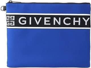 Luxury Fashion   Givenchy Mens BK600JK0R6400 Blue Clutch   Fall Winter 19