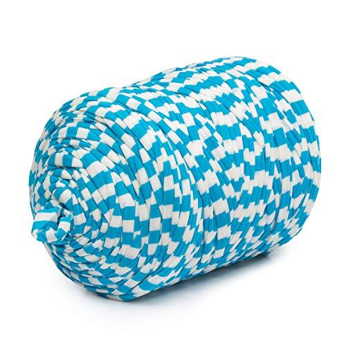 Trapillo Boguar Colores Estampados 1kg - 100 metros aproximado de tela cortada (Diseño 32)