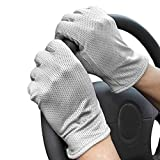 ITODA Breathable Lightweight Touch Screen Gloves Knitted Anti-slip Full Finger Mitt for Men