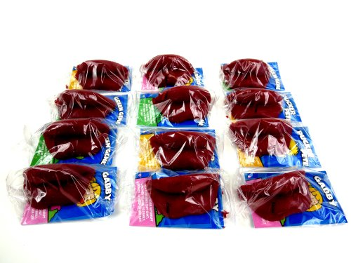 Red Candy Wax Lips, 12 Individually Wrapped Lips