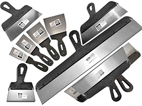 Proper Tools 11 PCS - DRYWALL TAPING, FILLING KNIFE, KNIVES, SCRAPER, PLASTERING SPATULA, SET