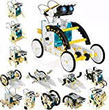 POKONBOY 13-in-1 Solar Robot Creation Kit, STEM Robot Kit Science Experiment Kit Powered by The Sun Robotics Building Kits for Boys and Girls Aged 8+ (White)