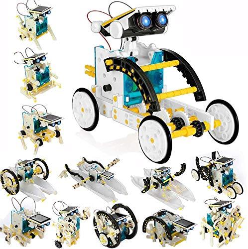 POKONBOY13-1 태양 로봇이 생성 장비 로봇 장비 줄기는 과학 실험 키트 구동에 의해 태양을 건설 로봇 공학 장비 소년과 소녀를 위한 8 세+(흰색)