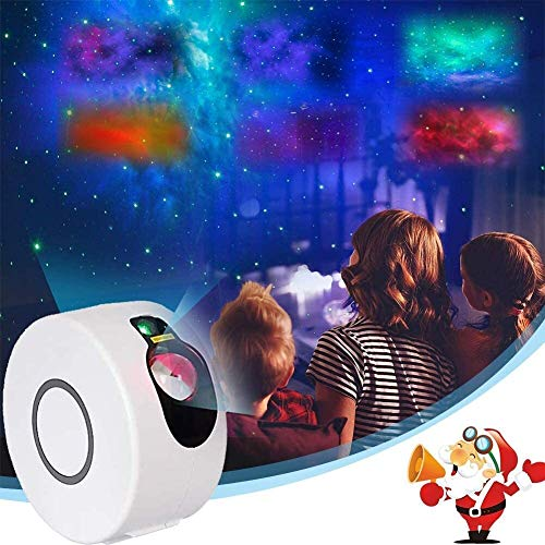JRSWDS Portable Star Projector Light, LED Star Light with Remote Control Ocean Wave Star Projector 15 Lighting Modes Sky Projection 360 ° Rotation for Kids Room Game Party Christmas