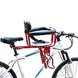 Asiento de bicicleta para niños Asiento de desmontaje rápido Asiento de seguridad prepuesto eléctrico para bicicleta con pedal Fácil de instalar para niños de 8 meses a 6 años que pueden lle