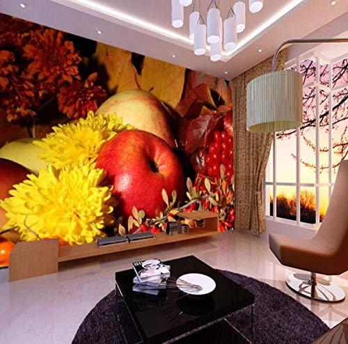 Fotobehang, vlies, 3D, grote vruchten, wandbehang, 3D fotobehang, muurschildering, voor keuken, tv, sofa, fruit, shop, 3D wand, wand, 3D zijde, behang, decoratie 350*245 350*245