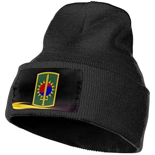 AEMAPE Gorro de Punto Unisex Gorro de Calavera de Moda Sombreros de Punto - 8a Brigada de Policía Militar (Estados Unidos)