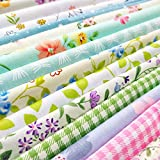 flic-flac 25pcs 10 x 10 inches (25cmx25cm) Cotton Fabric Squares Quilting Sewing Floral Precut Fabric Square Sheets for Craft Patchwork (25pcs 25cm25cm) (Office Product)