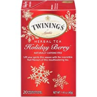 (6 X 20 Count) Twinings of London Holiday Berry Tea Bags