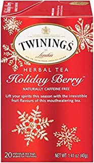 Twinings of London Holiday Berry Tea Bags, 20 Count (Pack of 6)