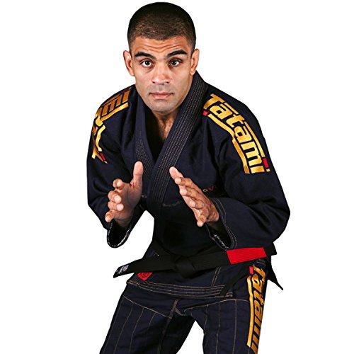 Tatami Fightwear - Estilo 6.0 BJJ - Kimono para Hombre, Hombre, BJJ Kimono, estilo6-n&gold-A3L, Azul Marino y Dorado, A3L