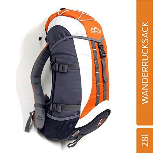 MONTIS SPEED 28 Unisex Trekking-Rucksack, Wander-Rucksack & Reise-Rucksack in einem, ermöglicht dank Regenschutz auch Bike- & Campingtouren, im Militär-Rucksack Look mit viel Extras & Belüftungssystem