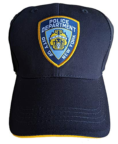 Anti Crime Security Inc. NYPD Casquette de baseball sous licence officielle du département de police de New York City Bleu marine