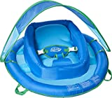 SwimWays Baby Spring Float with Adjustable Canopy and UPF Sun Protection, Blue
