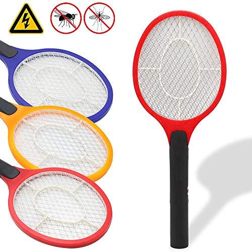 Hengda 3er Elektrische Fliegenklatsche, 3 Farben Insektenvernichter, EXTRA STARK, für Insekten, Mücken, Fliegen