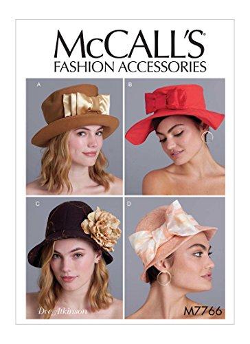 【McCall's】McCall Patterns Misses' Hats 帽子の型紙 M7766
