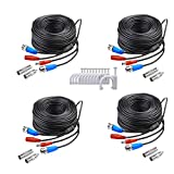 SANSCO 4x 30M/100 Feet BNC Video Power Cable for...