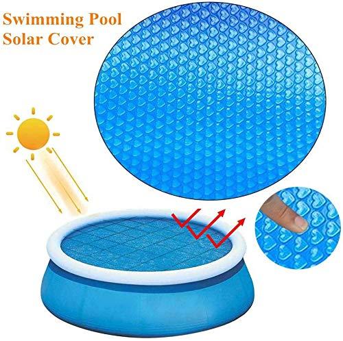 NEU 240cm runde Pool Solarabdeckung, Solar Pool Decke, Folie, Kunststoffisolierung, UV-Blasen, Schutz für aufblasbare Rahmen oder Pools, aufblasbarer Whirlpool, Wasser warm halten